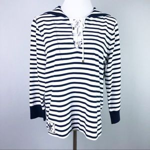 Lauren Ralph Lauren Sailor Striped Top Boating